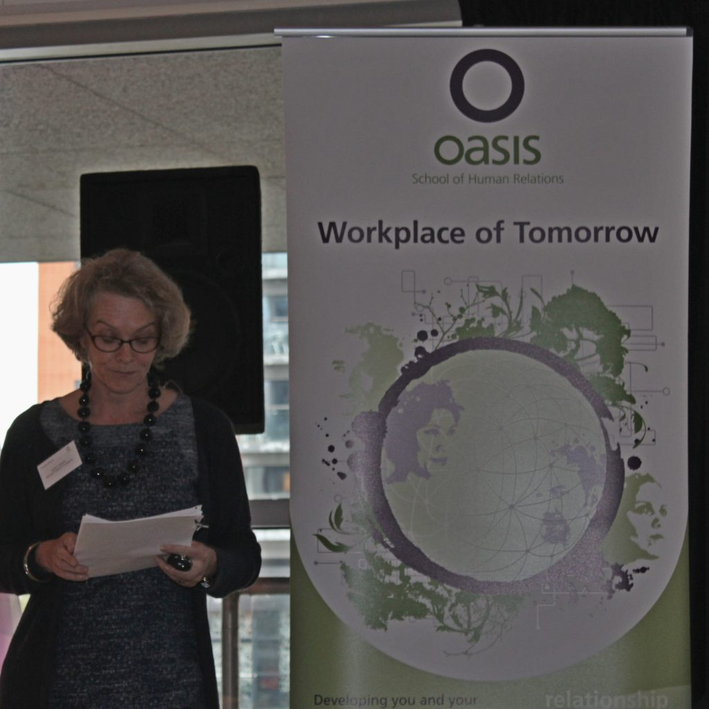 Susan Ralphs speaking about the Workplace of Tomorrow
