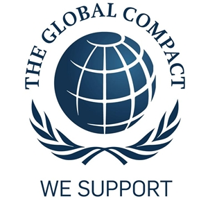 We support United Nations Global Compact logo