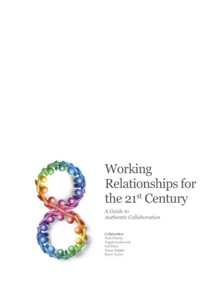 Front cover of Working Relationships for the 21st century